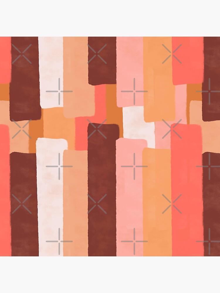 Line In Coral #redbubble #abstractart by designdn