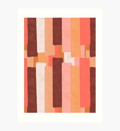 Line In Coral #redbubble #abstractart Art Print