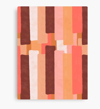 Line In Coral #redbubble #abstractart Canvas Print