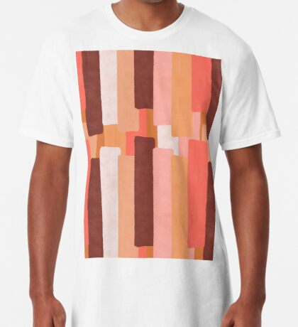 Line In Coral #redbubble #abstractart Long T-Shirt