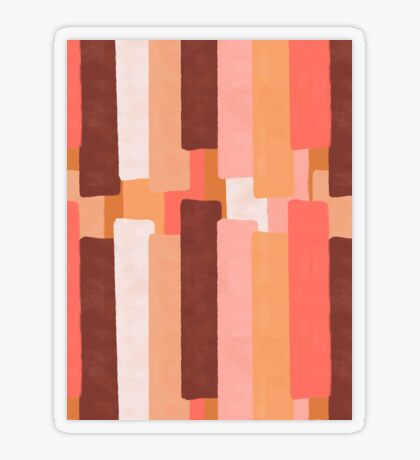 Line In Coral #redbubble #abstractart Transparent Sticker