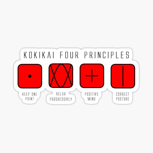 Four Principles to Live by Sticker