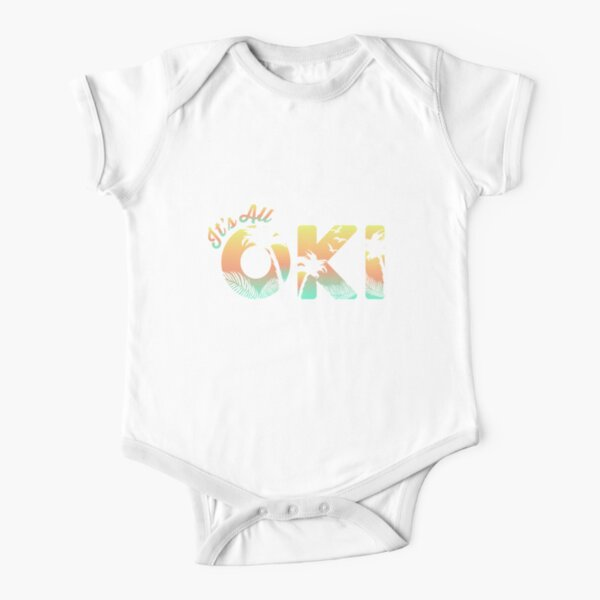 It's All Oki Sunset Ombre Short Sleeve Baby One-Piece