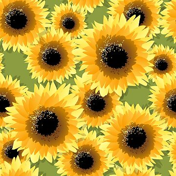 Sunflowers Seamless Pattern by Gertot1967