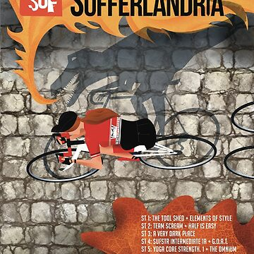 Tour of Sufferlandria 2019 Poster - Female Rider by bvduck