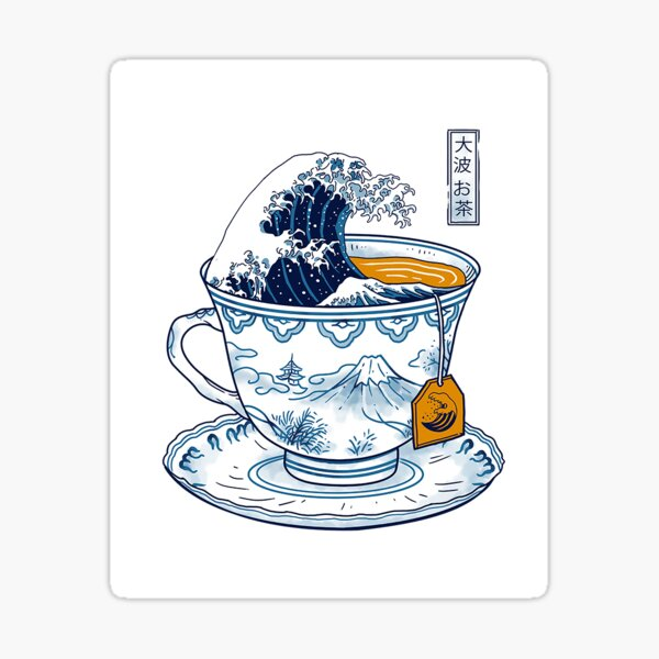 The Great Kanagawa Tea Sticker