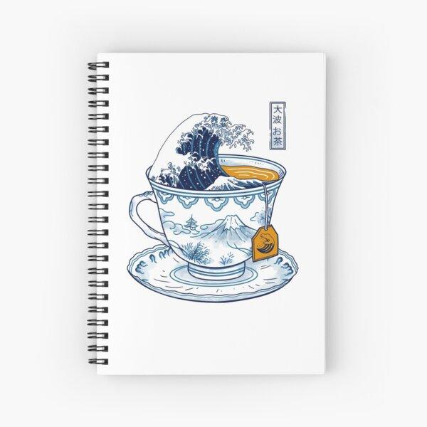 The Great Kanagawa Tea Spiral Notebook