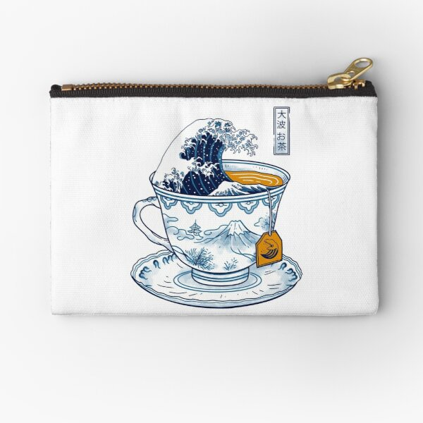 The Great Kanagawa Tea Zipper Pouch