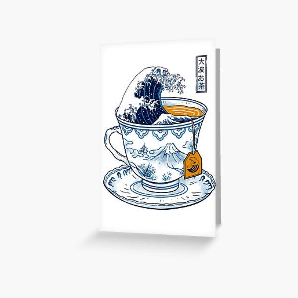 The Great Kanagawa Tea Greeting Card