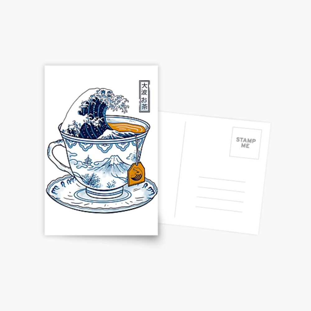 The Great Kanagawa Tea Postcard