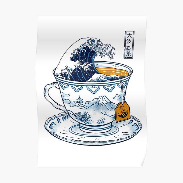 The Great Kanagawa Tea Poster