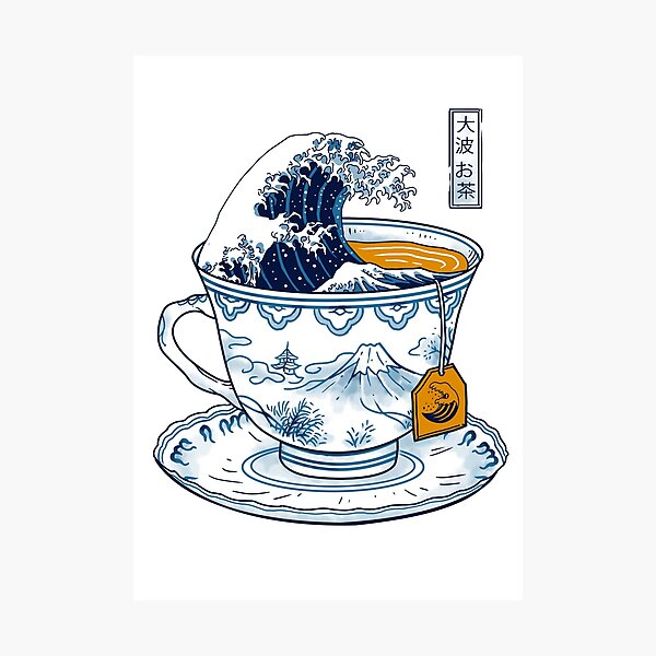 The Great Kanagawa Tea Photographic Print