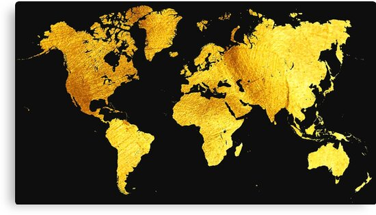 'Black and Gold Map of The World - World Map for your walls' Canvas on london's map, around the world map, quartz crystal map, true map, crazy world map, iron mining map, classic map, black map, tin deposits map, original map, metallic map, diamond map, old west map, gilgal map, iron deposits map, natural earth map, blue china map, blue ocean map, tin ore map, china bubble map,