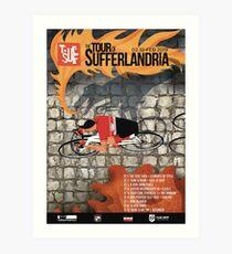 Tour of Sufferlandria 2019 Poster - Male Rider Art Print