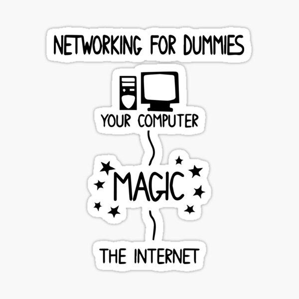 Networking For Dummies Sticker