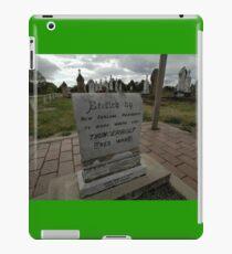 Thunderbolt's Grave, Uralla, Australia 2009 iPad Case/Skin