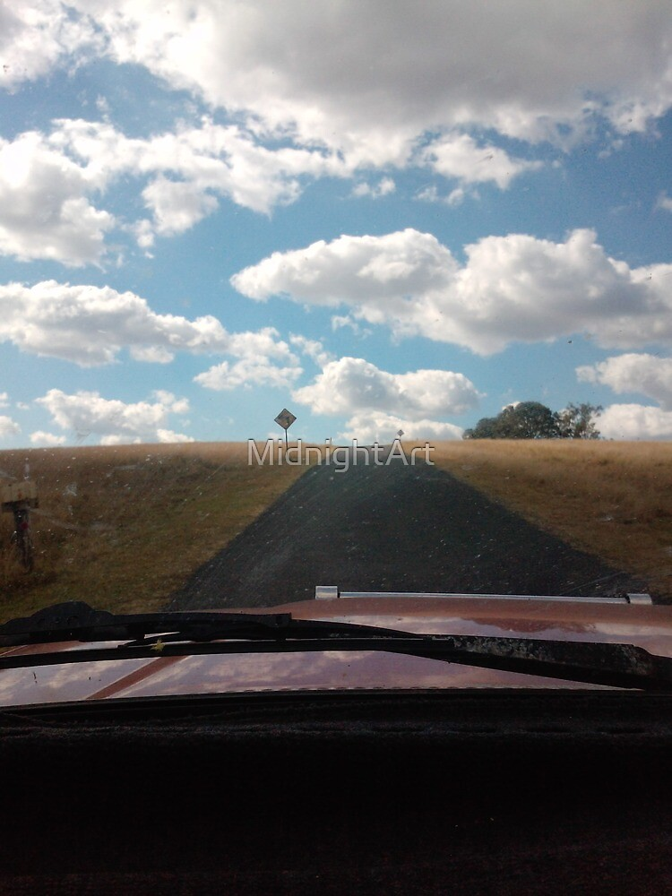 Country driving before the rain by MidnightArt