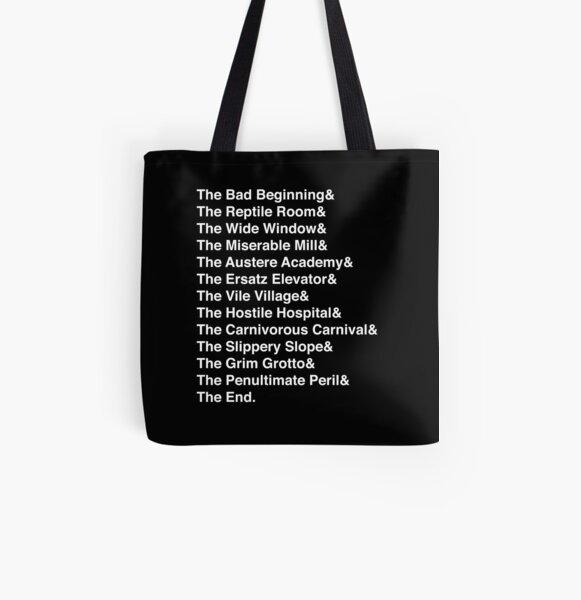 UNFORTUNATE BOOKS All Over Print Tote Bag