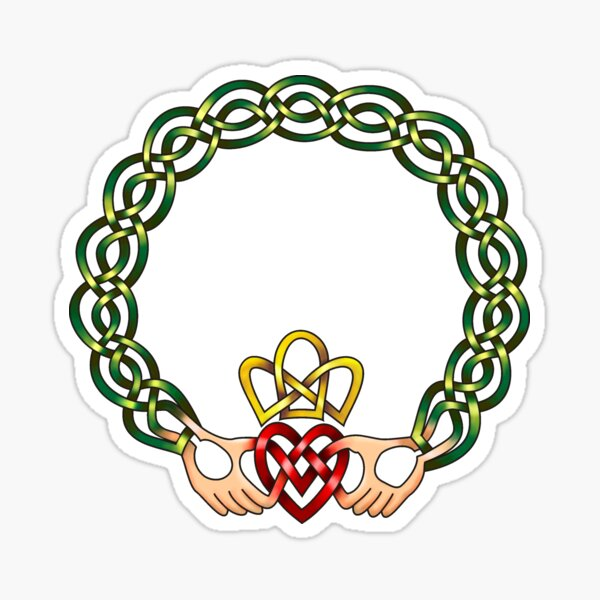 Celtic Knot Claddagh Sticker