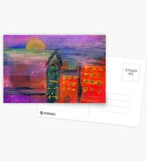 Abstract - Acrylic - Lost in the city Postcards