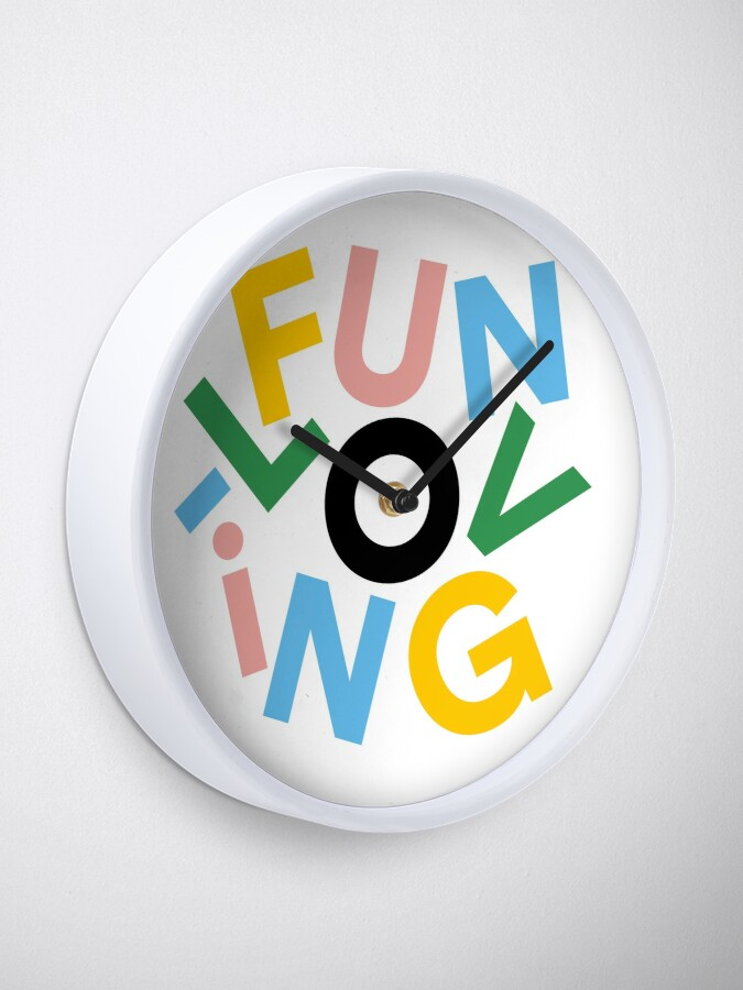 Alternate view of have a giggle Clock