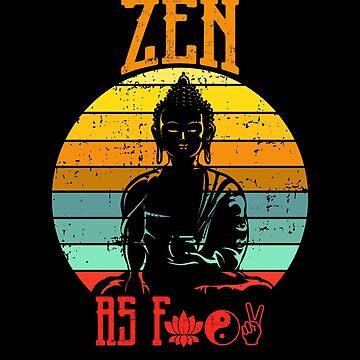 Zen AF Shirt Yoga Lover T-Shirt by LuckyU-Design