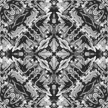 Black And White Geometric by perkinsdesigns