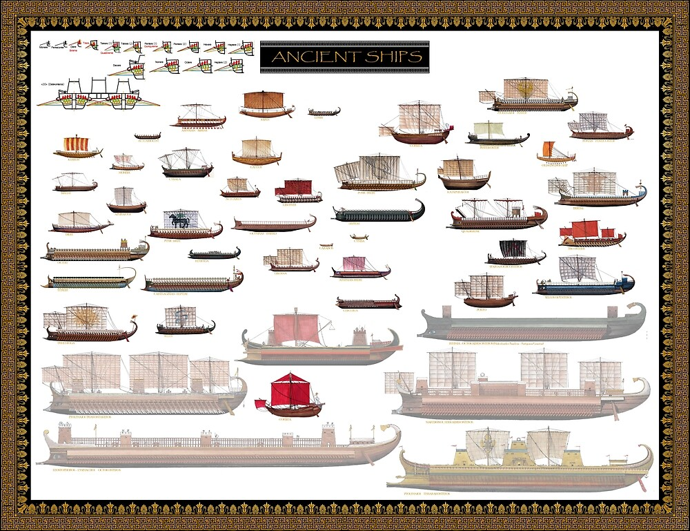 Antique ships Poster