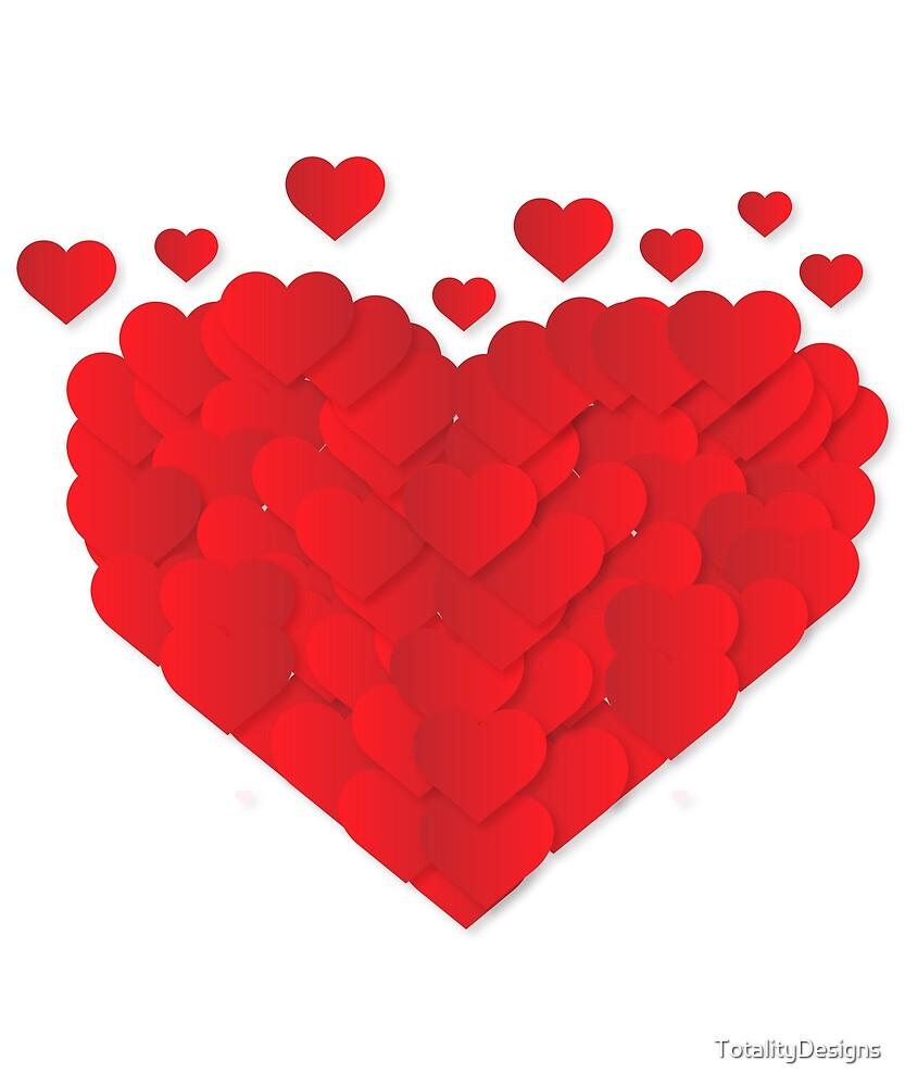 Corazon Hecho De Corazones De San Valentin De Totalitydesigns