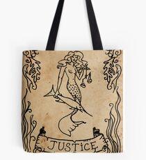 Mermaid Tarot: Justice Tote Bag