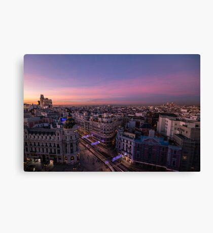 Metropolis - Madrid Canvas Print