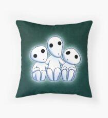Tree Spirit Friends- Mononoke Throw Pillow