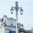 Victorian Street Light and Hotel on Brighton Seafront by Dorothy Berry-Lound