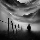 Going Nowhere Black and White Abstract Illustration by Sto Hitro