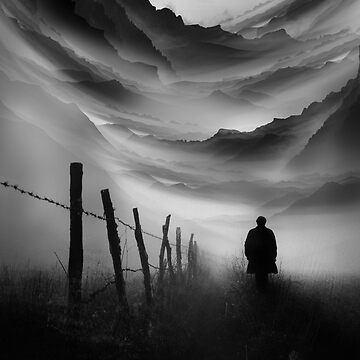 Going Nowhere Black and White Abstract Illustration by stohitro