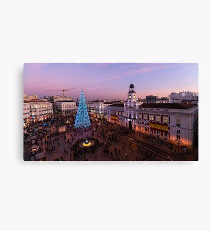 Puerta del Sol - Christmas tree Canvas Print
