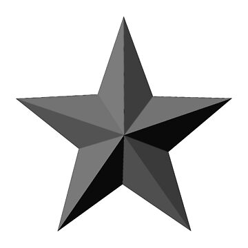 BLACK STAR, Black and White, Barn Star on White by TOMSREDBUBBLE