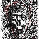Symbiosis, surreal human skull by BananaCrew
