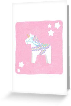 Einhorn Dala Pferd von katherineblower
