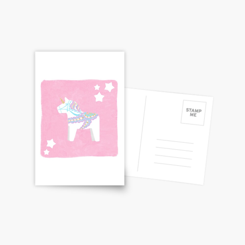 Einhorn Dala Pferd Postkarte