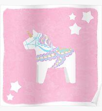 Einhorn Dala Pferd Poster