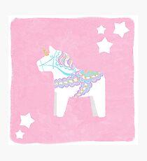 Einhorn Dala Pferd Fotodruck