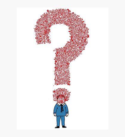 Question Boy Photographic Print