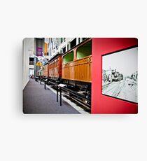 History of Train in Australia Canvas Print