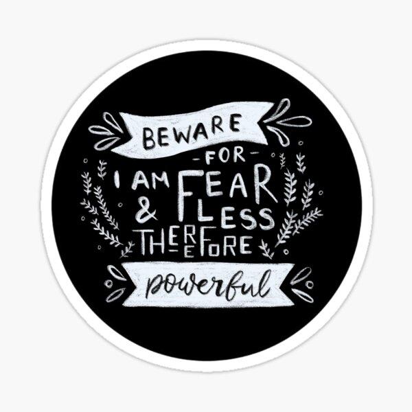 Fearless Frankenstein Chalk Typography Sticker