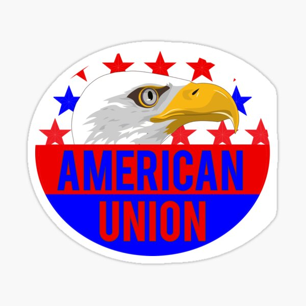 American union sticker Sticker