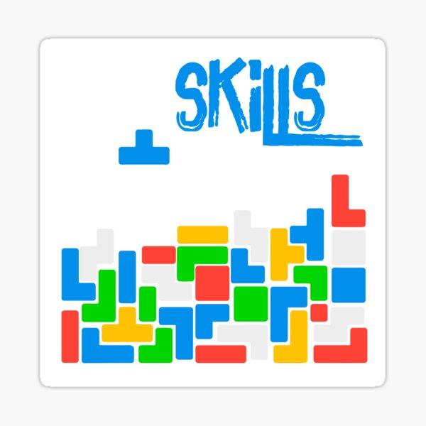 Skills Old Gamer Tetris Sticker