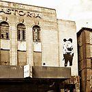 Brighton Astoria with Banksy Copy by Dorothy Berry-Lound