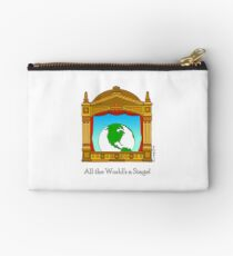 All the Worlds a Stage! Zipper Pouch