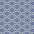 Blau Mandala Muster von Costa100